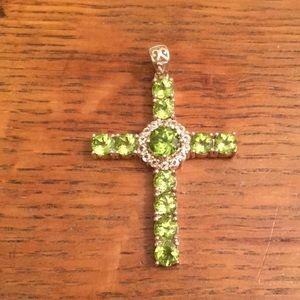 Dazzling cross necklace charm